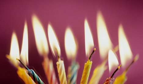 Nine candles